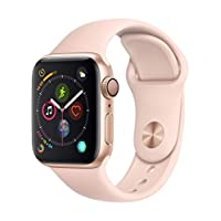 Apple Watch Series 4-40mm Gold Aluminum Case with Pink Sand Sport Band, GPS, watchOS 5