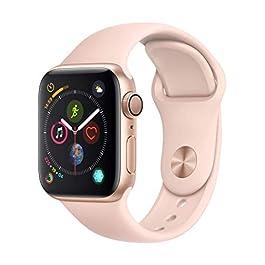 Apple Watch Series 4 (GPS, 40mm) Cassa in Alluminio Oro e Cinturino Sport Rosa Sabbia