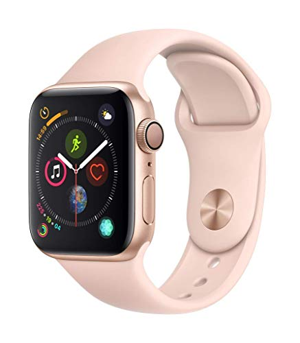 Apple Watch Series 4 (GPS) 40mm Aluminiumgehäuse, Gold, mit Sportarmband, sandrosa