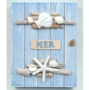 Boîte à clés Mer en bois
