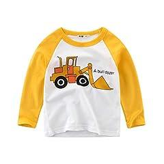 Idea Regalo - Topgrowth Magliette Neonato Ragazza Maglia A Maniche Lunghe Bambino T-Shirt Cartone Animato Stampa Auto Sweatshirt Top
