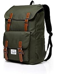 Vaschy Casual Camping Mochila Mochila Teen School Backpack 17in Laptop Negro