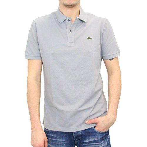 Cool Mesh-polo (Lacoste PH4012 Herren Polo Shirt Kurzarm,Männer Polo-Hemd,2 Knopf,Slim Fit,Platinum(KC8),X-Large (6))