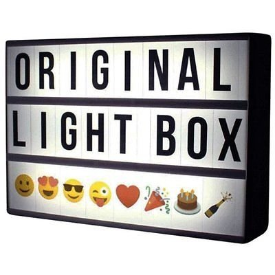 "Ginger Snap Insegna Luminosa ""Cinema Light Box"", 85 lettere, numeri e simboli"