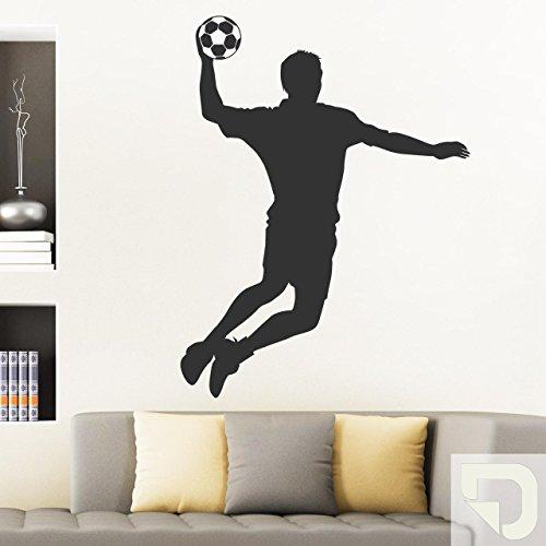 DESIGNSCAPE® Wandtattoo Handballer Sport Jugendzimmer Wandaufkleber 94 x 120 cm (Breite x Höhe) creme DW807082-L-F102
