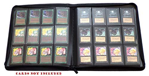 docsmagic.de Premium 12-Pocket Playset Zip-Album Black - 480 Card Binder - Magic: The Gathering - Pokemon - Yu-Gi-Oh! - Sammelordner Schwarz Deck Zip