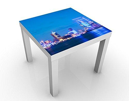 Apalis 46291-276907-855817 Design Tisch Hamburger Hafen, 55 x 55 x 45 cm, weiß