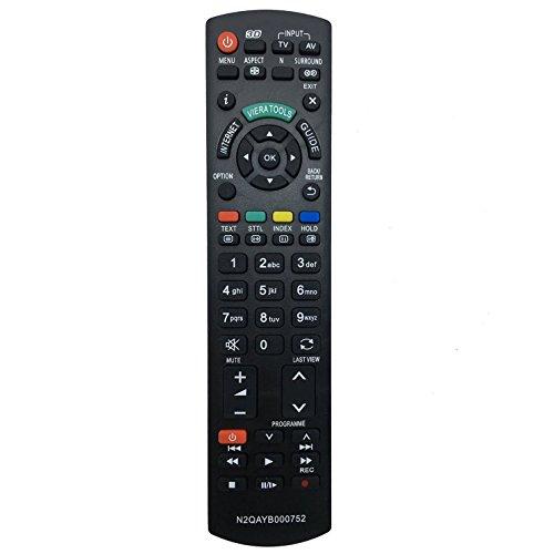 Allimity di ricambio telecomando N2QAYB000752Fit per Panasonic LED LCD 3D TV al plasma o Model no. rm-d1170