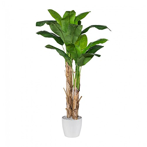 Bananenpflanze Kunstpflanze 210 cm im Topf