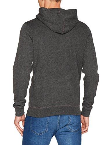 Pepe Jeans London Herren T-Shirt Zip Thru Grau (Dk Grey Marl)