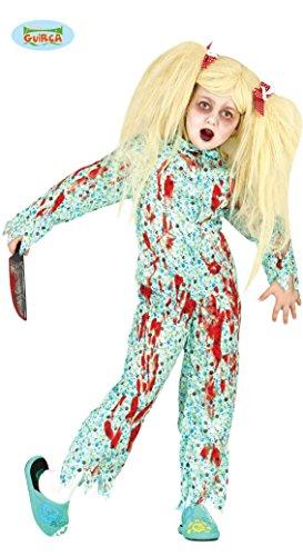 blutiges Zombie Mädchen im Schlafanzug Gr. 110-146, (Zombie Pyjama Kostüm)
