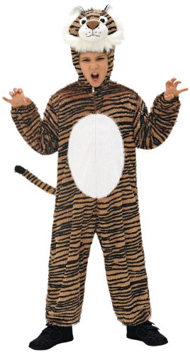 Kostüme Jungen Tiger (Widmann 9789N - Kinderkostüm Tiger, Overall mit Maske, Größe)