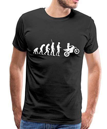 Spreadshirt Evolution Enduro Männer Premium T-Shirt, XL, Schwarz -