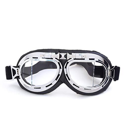 UZZHANG Steampunk viktorianischen Stil Brille Vintage Design, farbige Linsen & Augenlupe (Farbe : A004)