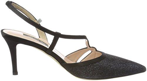 Sjp Par Sarah Jessica Parker Quinn 70, Chaussures Avec Bride À La Cheville Femme Noir (black Glitter)