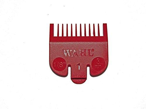 Wahl No.1 Attachment Comb 3mm 1/8 Cut Red - WAH31142001