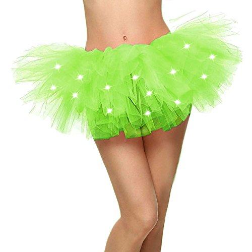 Jasmine Damen led leuchten neon tüll tutu einheitsgröße fluoreszierendes (Jasmine Für Erwachsene Kostüm)