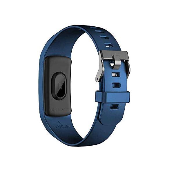 TOOGOO Banda de Rastreador de Actividad Inteligente Y9 Pulsera de Fitness Monitor de Pulso Cardíaco Pulseras de Presión Arterial para Teléfono Inteligente Banda Inteligente (Azul) 5