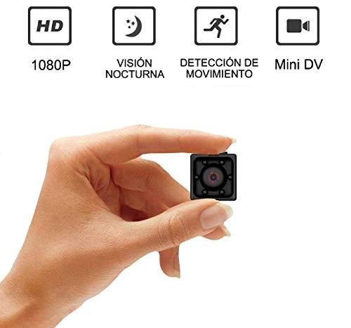 Mini telecamera spia nascosta zimax full hd 1080p portatile micro spy cam sorveglianza con visione notturna sensore di movimento y batteria,senza fili piccola microcamere spia per esterno interno