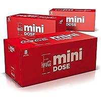 Coca-Cola Classic / Pure Erfrischung mit unverwechselbarem Geschmack in der stylischen, (3 x 8 x 150ml) Mini Dose