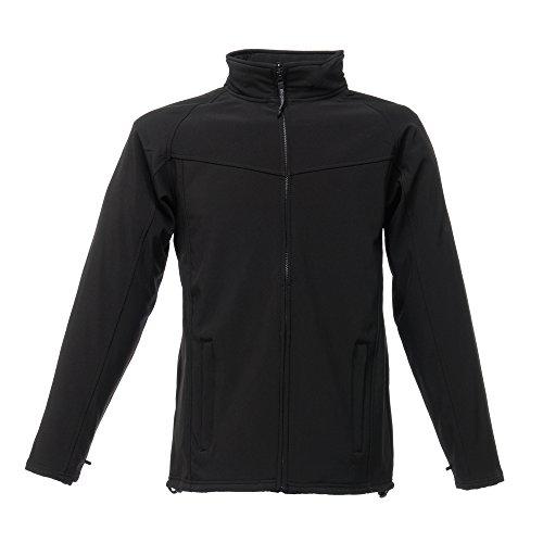Regatta Uproar Herren Softshell Fleece-Jacke, windabweisend Black/Black