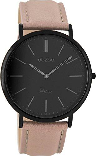 Oozoo Damen Digital Quarz Uhr mit Leder Armband C8151