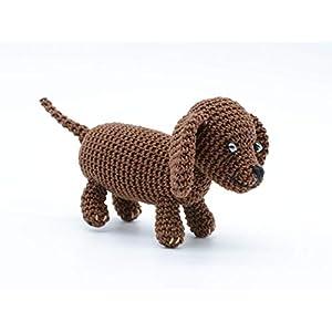 Brauner Welpe des Dachshunds, Miniatur Hunde Geschenk
