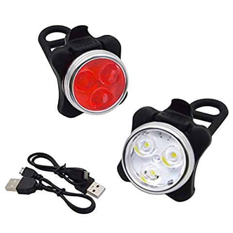 Bike Bicycle Taillight Headlight for Night Cycling -Mountain bike MTB USB Rechargeable Waterproof Light & Safety Warning lamp, iParaAiluRy - Bmw Coda Lampadina