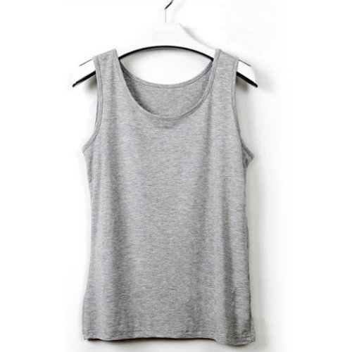 New Summer Womens Big Size Plus Solid Casual Slim Fitness Tank Tops Sleeveless Camisoles