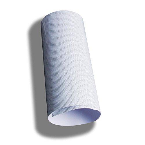 One Way perforiert MESH Fenster vinyl Sichtschutz Wrap Folie Blech mit einem schwarz Selbstklebende Rückseite, PVC, schwarz, 1.37m*0.5m(4.5ft * 20