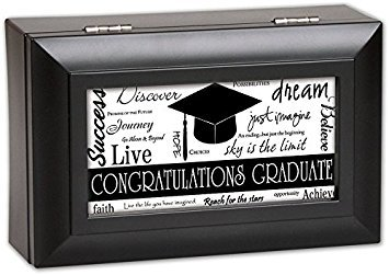 uate SCHWARZ Graduation Musical Jewelry Box spielt Wonderful World ()