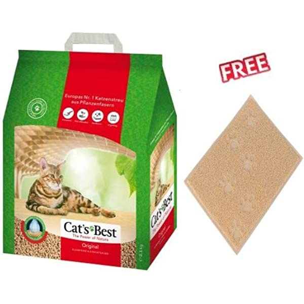 Cats Best Original Litter Mega Pack 40l Approx 17 2kg Clumping Functional Litter Made From 100 Natural Wood Fibre Absorbs Up To 7 Times Its Own Volume In Moisture Amazon Co Uk Pet Supplies
