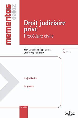 Droit judiciaire priv. Procdure civile - 20e d.: Mmentos