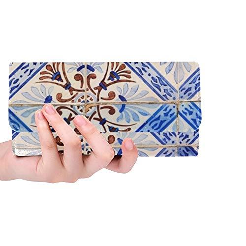 Einzigartige benutzerdefinierte schließen Bild schön dekoriert Fliesen auf Frauen dreifach gefaltete Brieftasche Lange Geldbörse Kreditkarteninhaber Fall Handtasche -