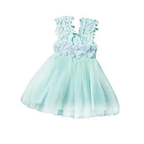 VJGOAL Mädchen Kleider, Mädchen Baby Kind ÄRmellose Prinzessin Kleid Sommer OutfitsMode Spitze Mesh Tutu Dresses for ()