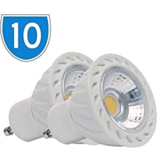 10Stück LED-Spot-Lampe 5W = 30W, 240V, 410lm, GU10, 6400K, COB, tageslichtweiß, energiesparend, 864 36D Birne