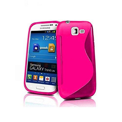 HQ-CLOUD Coque Gel Silicone S-Line Pour Samsung Galaxy Trend Lite S7390 S7392 - Rose - Un Film Offert