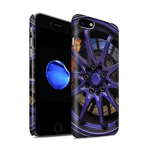 STUFF4 Matte Snap-On Hülle / Case für Apple iPhone 7 Plus / Blau/Rot Muster / Leichtmetallfelgen Kollektion Lila/Orange