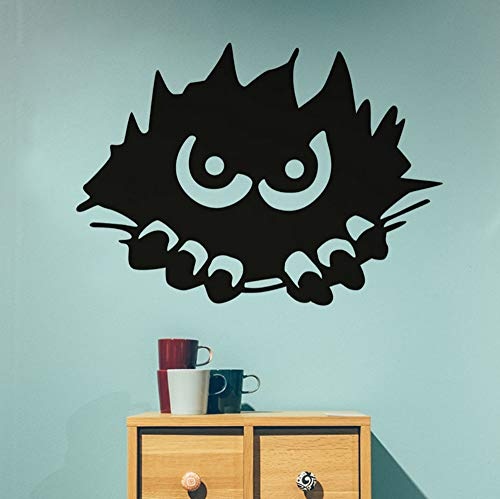 Aisufen Monster Spähen Wandaufkleber Für Kinderzimmer Halloween Dekoration, Scary Monster Stalking Wandtattoos Dekoration Zubehör 57 * 41 Cm (Basteln Scary Halloween-dekorationen)