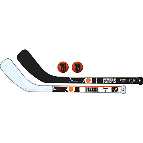 Franklin Sports NHL Team Mini-Hockeyschläger-Set, 2-teilig, Unisex-Erwachsene, Philadelphia Flyers, NA
