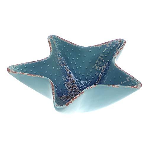 en céramique étoile de mer Bol/Plat - Bleu Glaze - pour Pot pourri, Coquillages, DE Salle DE Bain Ornement/décoration - 16 cm