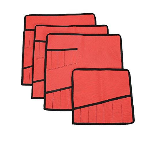 Handgefertigte Rote Tasche (Handgefertigt PVC Oxford Schlüssel Rolltasche, 13-pockets Werkzeug Rolle Tasche für Organisation hgj73, rot)