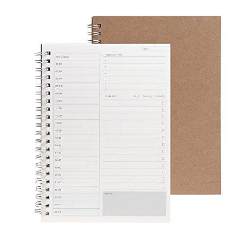Dabixx Planner Book Agenda settimanale mensile Agenda Agenda Vuota Diario di Studio Fai da Te - Quotidiano