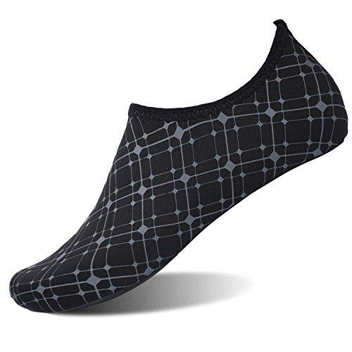 L-RUN Unisex Wasserschuhe Athletic Aqua Socke Schwarz XL (B: 7.5-8, M: 7.5-8) = EU41-42