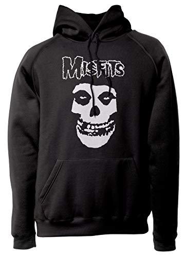 LaMAGLIERIA Unisex-Hoodie Misfits - White Print - Kapuzenpullover Rock Metal, XL, schwarz