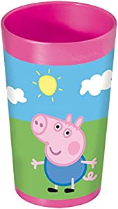 Peppa Pig 748607 - Vaso (7 x 7 x 13 cm), color rosa