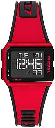 Diesel Chopped Men's Black Dial Silicone Digital Watch - DZ