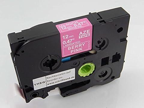 vhbw Cartouche cassette à ruban 12mm pour Brother P-Touch 1100SBVP, 1100ST, 1130, 1150, 1150DX, 1160, 1170 comme TZE-MQP35, TZ-MQP35