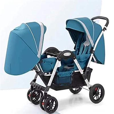 BABIFIS Cochecitos para bebés Gemelos Cara a Cara Carrito para bebés de Alto Paisaje Siéntese reclinable, Plegable, Lujoso, Carrito Doble