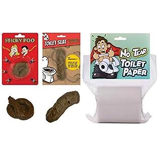 WPN Fake Poo & No Tear Toilet Paper Gift Set, Secret Santa, Christmas Joke/Novelty Turd/Fun Prank